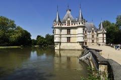 Górska chata De le, FRANCE-JUNE 2013: Ten kasztel lokalizuje w Loire dolinie, budował 1515, 1527 od Zdjęcia Stock