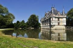 Górska chata De le, FRANCE-JUNE 2013: Ten kasztel lokalizuje w Loire dolinie, budował 1515, 1527 od Fotografia Royalty Free