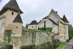 Górska chata De Losse przy Thonac w Dordogne obraz stock