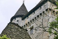 Górska chata De Losse przy Thonac w Dordogne fotografia stock