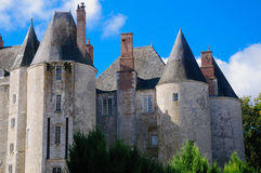 Górska chata De Meung-sur-Loire, meung-sur-loire kasztel/ Zdjęcie Royalty Free