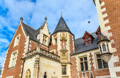 Górska chata Du Clos Luka w Amboise, Francja Zdjęcie Stock