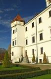 Górska chata Konopiste w jesień dniu, republika czech Fotografia Stock