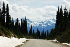 górska droga Obrazy Royalty Free