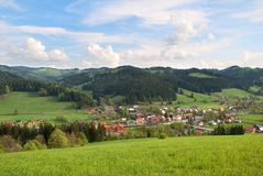 górska karlovice velke wioska zdjęcie royalty free