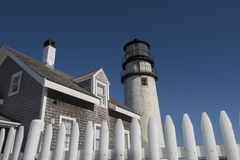 Górska latarnia morska przy Cape Cod, Massachusetts Obrazy Stock