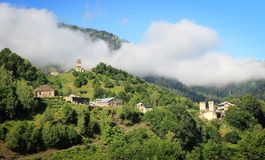 Górska wioska Zdjęcia Stock