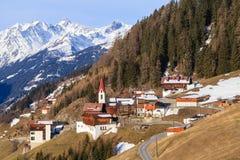 Górska wioska Zdjęcia Royalty Free