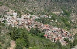 Górska wioska Askas przy Troodos górami, Cypr Zdjęcie Stock