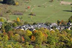 Górska wioska Counozouls w Pyrenees obrazy stock