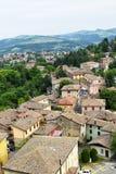 Górska wioska Guiglia zdjęcia stock