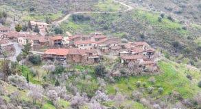 Górska wioska Lazania w Cypr Zdjęcia Stock