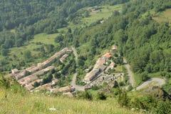 Górska wioska Montsegur w Pyrenees, Francja fotografia royalty free