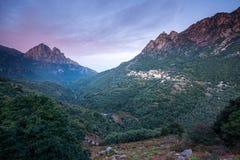 Górska wioska Ota Corsica Francja Fotografia Stock