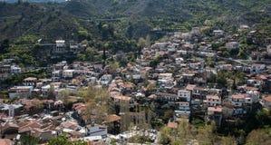 Górska wioska Palaichori przy Troodos górami, Cypr Fotografia Stock