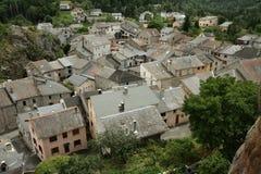 Górska wioska Querigut w Pyrenees, Francja obrazy royalty free