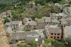 Górska wioska Querigut w Pyrenees, Francja obraz royalty free