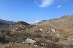 Górska wioska w Armenia Ijevan Obraz Stock