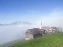 Górska Wioska w jesieni Zdjęcia Royalty Free