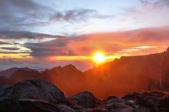 Górski słońce wzrost Fotografia Stock