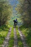 górski wiejskiego motocyklistów drogowy Zdjęcie Stock