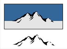 górskie logo Fotografia Stock
