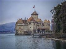 górskiej chaty chillon de Montreux Switzerland zdjęcia stock