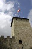 górskiej chaty chillon wierza Fotografia Royalty Free