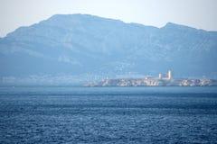Górskiej chaty d'If, Marseille, Francja Obrazy Royalty Free