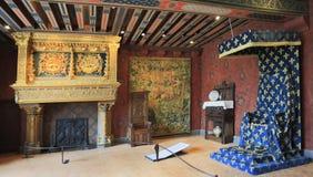 Górskiej chaty De Blois wnętrze, Francja Obrazy Royalty Free