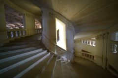 Górskiej chaty De Chambord Dwoistego helix schody Obraz Royalty Free