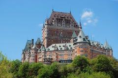 Górskiej chaty Frontenac hotel, Quebec miasto Obraz Royalty Free