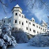 górskiej chaty konopiste zima Zdjęcia Royalty Free