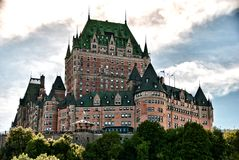 górskiej chaty Miasta De Frontenac majestat Quebec Obrazy Stock