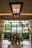 Górskiej chaty pavie wytwórnii win wejściowa sala, święty Emilion, bordowie, Francja Zdjęcia Royalty Free