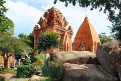 Góruje Cham cywilizację. Nha Trang, Wietnam Obraz Stock