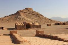 Góruje cisza blisko Yazd, Iran obrazy stock