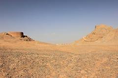 Góruje cisza blisko Yazd miasta, Iran obrazy stock