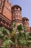 Góruje Czerwony fort (Lala Qila). Stary Delhi, India Zdjęcia Royalty Free