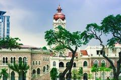 Góruje dziejowy budynek w Kuala Lumpur obraz stock