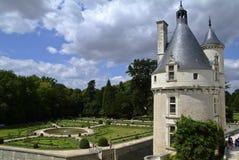Góruje i ogród górska chata Chenonceau Obrazy Stock