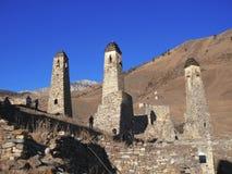 Góruje Ingushetia. Antyczna architektura i ruiny Fotografia Royalty Free