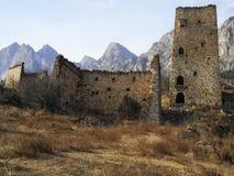Góruje Ingushetia Antyczna architektura i ruiny Obrazy Royalty Free