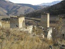 Góruje Ingushetia Antyczna architektura i ruiny Zdjęcie Royalty Free