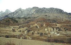 Góruje Ingushetia Antyczna architektura i ruiny Fotografia Royalty Free