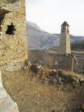 Góruje Ingushetia Antyczna architektura i ruiny Zdjęcia Royalty Free