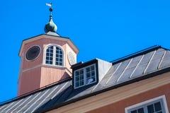 Góruje na dachu urzędu miasta budynek, Porvoo zdjęcie stock