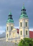 Góruje podupadła część śródmieścia Farny kościół Budapest, Węgry zdjęcia stock