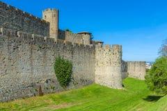 Góruje Średniowieczny kasztel, Carcassonne Obrazy Stock
