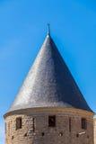 Góruje Średniowieczny kasztel, Carcassonne Obraz Royalty Free